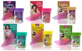 VI-JOHN Women Hair Removal Cream Rose,Sandal, Cucumber, Haldi chandna, Lime ,Honey 40 gm (Pack of 6)