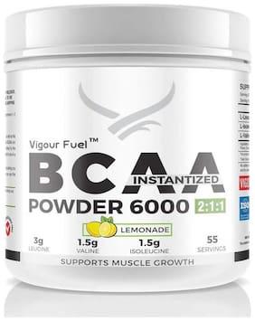Vigour Fuel (VF, Vigourfuel) Vegan BCAA Instantized Powder 6000, (400 g/ 55 Servings) Lemonade