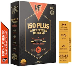 Vigour Fuel Iso Plus Tri-Blend Whey Protein Powder with Digestive Enzymes & Probiotics-2 lbs (908 g) Cafe  Mocha