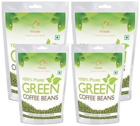 Vihado 100% Natural Green Coffee Beans  For Weight Management 500g (Pack of 4)