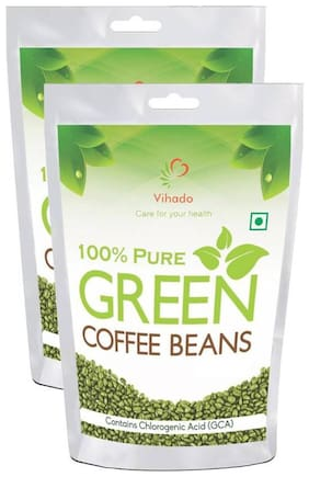 Vihado 100% Natural Green Coffee Beans  For Weight Management - 50g (Pack of 2)