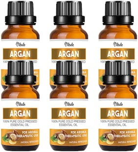 Vihado 100% Pure And Natural Argan Oil Hair Oil (18 ml) (Pack Of 6)