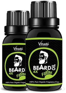 Vihado 4x PRO Faster Growth Beard Growth Hair Oil (25 ml) (Pack of 2)