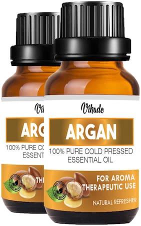 Vihado Argan Growth Oil For Hair Oil (10 ml) (Pack Of 2)