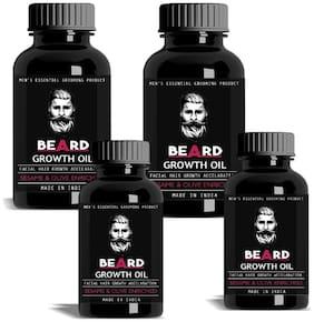 Vihado Beard Mustache Growth Oil Hair Oil 120 ml Pack of 4