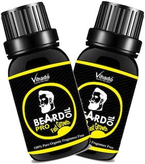 Vihado Beard Growth Hair Oil PRO Faster Growth (30 ml) (Pack of 2)