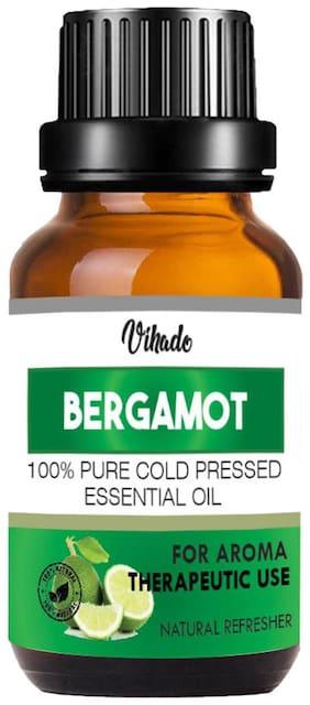 Vihado Bergamot Oil 100% Pure (10 ml) (Pack Of 1)