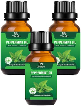 Vihado Best Peppermint Essential Oil 100 Percent Pure and Natural, (15 ml) (Pack of 3)