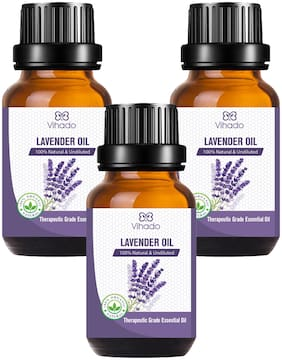 Vihado Best Lavender Essential Oil Steam Distilled Natural, Pure And Organic (30 ml) (Pack of 3)