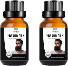 Vihado Best Beard Growth Oil For Men (10 ml) (Pack of 2)