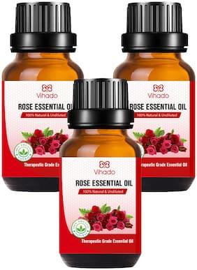 Vihado Best Rose Essential Oil (10 ml) (Pack of 3)
