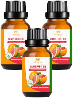 Vihado Best Grapefruit Oil - Pure and Therapeutic Grade - Massage Suitable for All Skin Types Pure Essential Oil (10 ml) (Pack of 3)