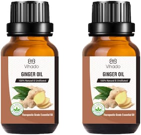 Vihado Best Ginger Pure and Natural Essential Oil Therapeutic Grade (30 ml) (Pack of 2)