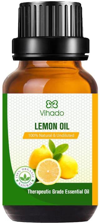 Vihado Best Pure Lemon Essential Oil (10 ml) (Pack of 1)