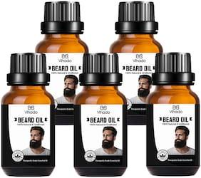 Vihado Best Beard Growth Oil For Men (15 ml) (Pack of 5)