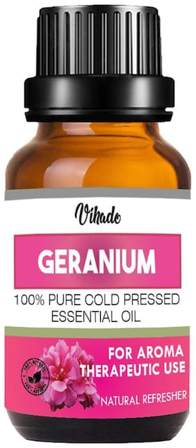 Vihado Geranium Essential Oil Pure Natural Oil (15 ml) (Pack of 1)