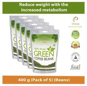 Vihado Green Coffee Beans  for Weight management & belly fat burner -500g (Pack of 5)