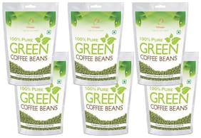 Vihado Green Coffee Beans Organic  for Weight Loss - 100% Pure, Unroasted, Arabica AAA+ -500g (Pack of 6)