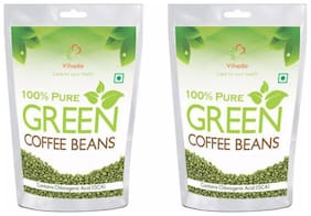 Vihado Green Coffee Beans Organic  for Weight Loss - 100% Pure, Unroasted, Arabica AAA+ -100g (Pack of 3)