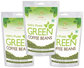 Vihado Green Coffee Beans  for Weight management & belly fat burner -100g (Pack of 3)