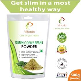 Vihado Green Coffee Bean Powder 500g For Natural Weight Loss