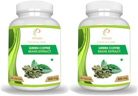 Vihado  Green Coffee Bean Extract Capsules for Weight Management 800mg - 60 Capsules (Pack of 2)