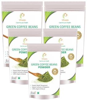 Vihado green Coffee Beans Powder 200 g ( Pack of 5 )