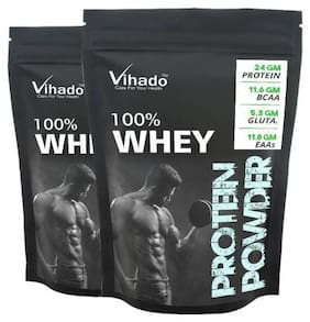 Vihado Instantised Raw Concentrate 80% Unflavoured Whey Protein Powder 50g (Pack of 2)