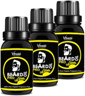 Vihado Mooch and Beard Oil PRO Faster Growth  (15 ml) (Pack of 3)