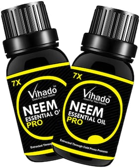 Vihado Neem Carrier Oil 7X Pro Hair Oil (15 ml) (Pack Of 2)
