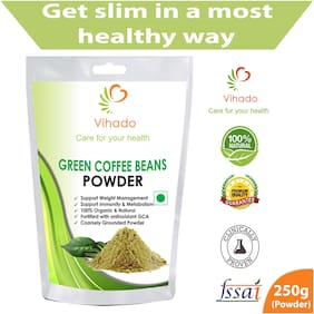 Vihado Nutrition Green Coffee Beans Powder 250g for Weight Management