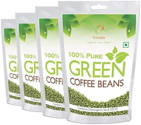 Vihado Nutrition Green Coffee Beans  for Weight Management -100g (Pack of 4)