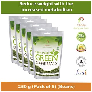 Buy Vihado Organic Green Coffee Beans For Weight Loss 250g Pack