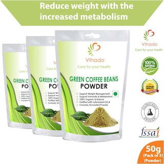 Buy Vihado Organic Green Coffee Beans Powder For Weight Loss 50g