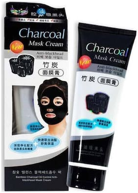 Vihado Peel Off Black Mask Face Pack with Activated Charcoal 130g (Deep skin cleansing Face Pack)