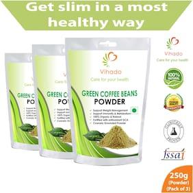 Vihado Premium Green Coffee Powder For Weight Loss - 250g (Pack of 3)