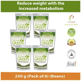 Vihado Premium Green Coffee  For Weight Loss - 250g (Pack of 6)