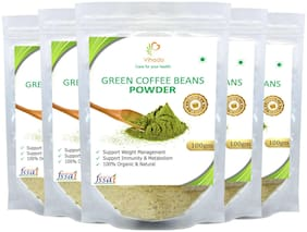 Vihado Premium Quality Green Coffee Beans Powder, Natural, Pure, Organic and Effective for Weight Loss.(5 Pack of 100g)