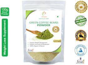 Vihado Premium Quality Organic Green Coffee Powder(1 Pack of 100g) / For Natural Weight Loss