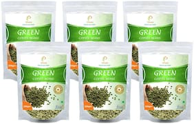 Vihado Premium Quality Green Coffee Beans Natural Pure Organic And Effective For Weight Loss.(6 Pack of 250 g)