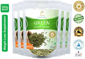 Vihado Premium Quality Organic Green Coffee Beans(5 Pack of 500g) / For Natural Weight Loss