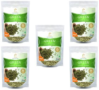Vihado Premium Quality Green Coffee Beans Natural Pure Organic And Effective For Weight Loss.(5 Pack of 50 gm)