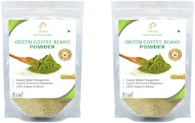 Vihado Premium Quality Green Coffee Beans Powder, Natural, Pure, Organic and Effective for Weight Loss.(2 Pack of 50g)