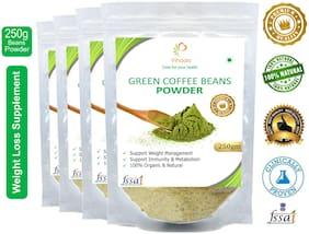 Vihado Premium Quality Organic Green Coffee Powder(4 Pack of 250g) / For Natural Weight Loss
