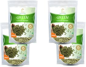 Vihado Premium Quality Green Coffee Beans Natural Pure Organic And Effective For Weight Loss.(4 Pack of 200 g)