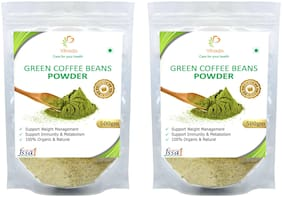 Vihado Premium Quality Green Coffee Beans Powder, Natural, Pure, Organic and Effective for Weight Loss.(2 Pack of 500g)