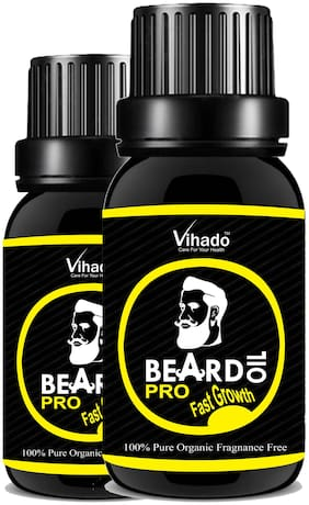Vihado PRO Faster Growth Beard Growth Hair Oil (10 ml) (Pack of 2)