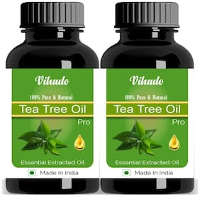 Vihado  Pure & Natural Tea Tree Essential Oil 5 ML Pack of 2