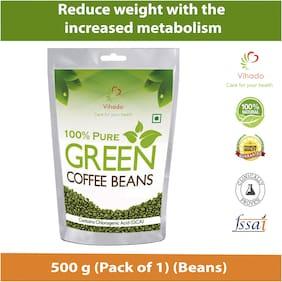 Vihado Pure Arabica Green Coffee Beans  500g (Pack of 1)