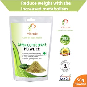 Vihado Pure Arabica Green Coffee Beans Powder 50 g